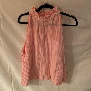 Pink pink striped blouse